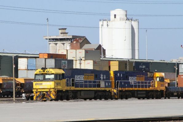 NR115 and NR45 ready to depart North Dynon on MB1 intermodal