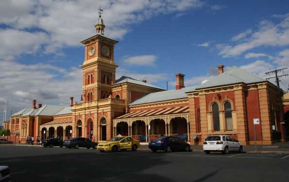 Street view of Albury station