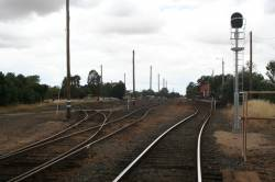 Looking down the broad gauge yard from the Midland Highway LX