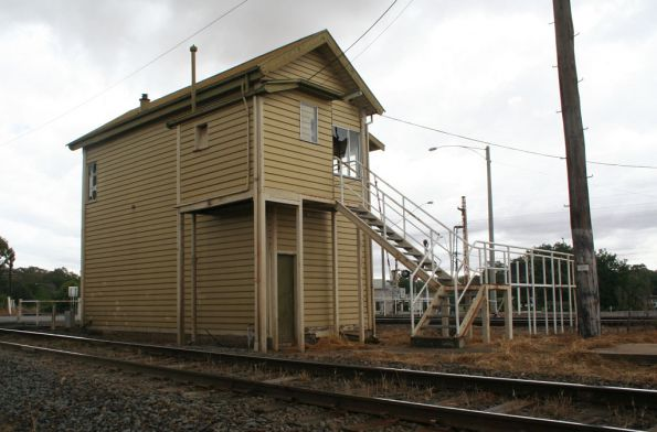 Rear of Benalla 'A' box, SG line in foreground