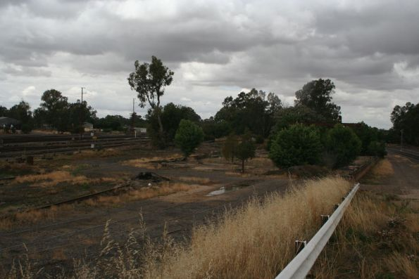Remains of the Benalla loco depot from the station overpass