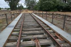Relatively new steel walkways on the Benalla turntable