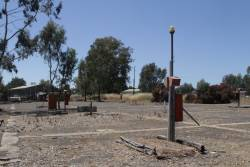 Former way and works campsite at Benalla