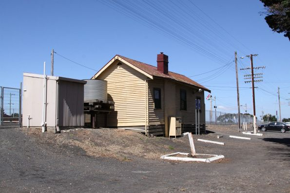 Rear view of the Donnybrook station building