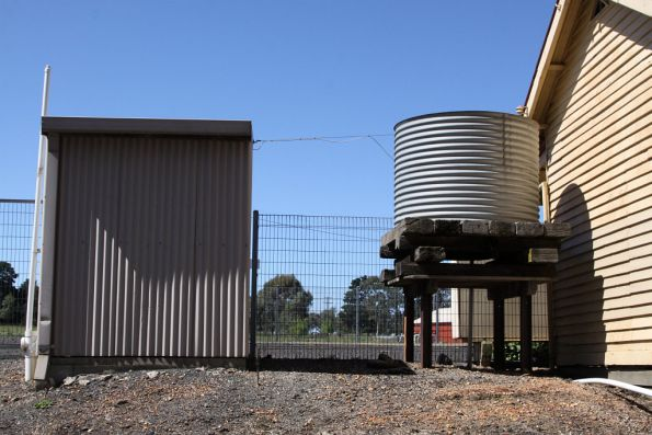 Toilet block at water tank at Donnybrook station