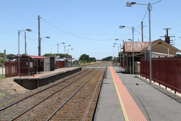 Only Platform 2 at Donnybrook station has been extended