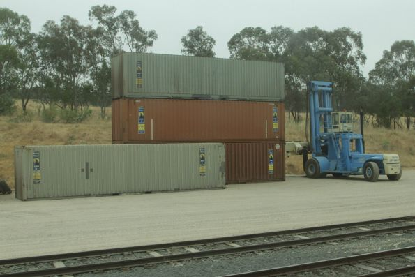 Another container forklift at the Ettamogah Rail Hub