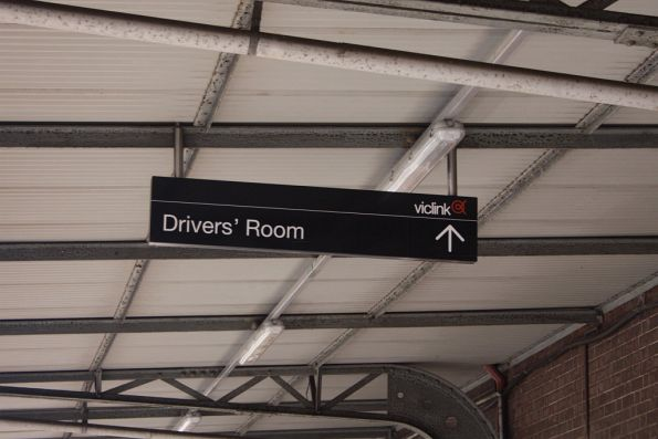 Viclink signage for the drivers room at Seymour station