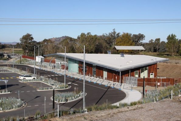 Road side of the new Wodonga West station