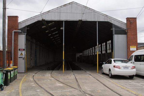 Two road carbarn at North Fitzroy depot