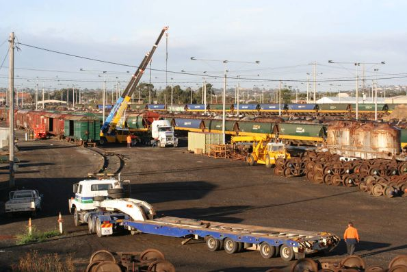The wagon scrapping continues at North Geelong Yard