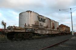 Stored flour hoppers at North Geelong Yard