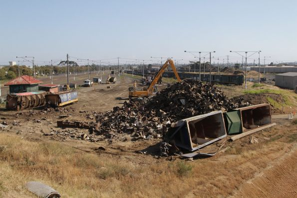 Overview of the scrapping scene at North Geelong Yard