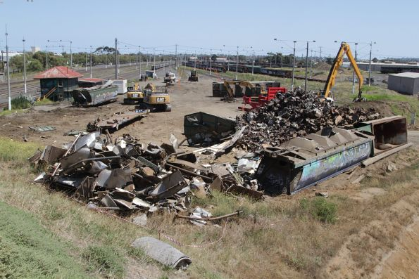 Overview of the wagon scrapping at North Geelong Yard