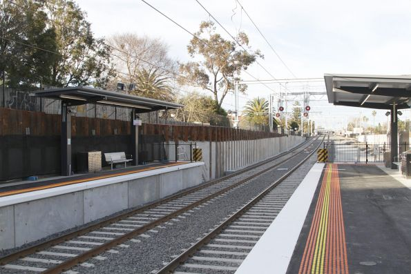 Down end of the rebuilt low level station at McKinnon