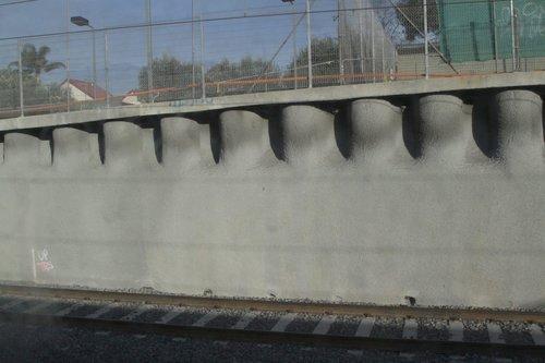 Fresh shotcrete covered walls at Ormond station