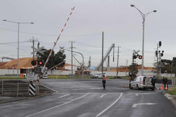 Boom barriers lower at Station Street, North Shore