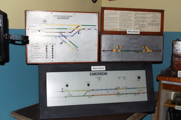 Various track occupancy / mimic boards