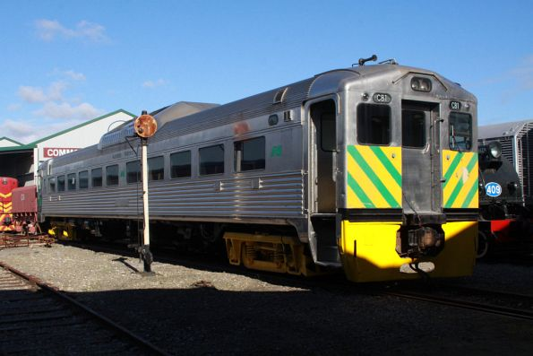 Budd railcar CB1 in Australian National livery