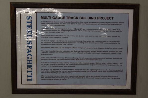 Explanation of the NRM's 2001 track rearrangement over 3 gauges