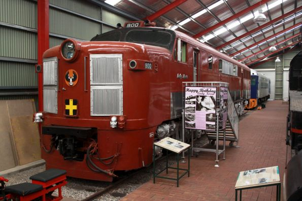 Classleader of the SAR 900 class diesels - 900 'Lady Norrie' at the National Railway Museum, Port Adelaide