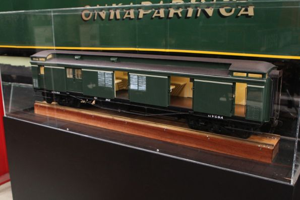 Large scale model of 38CE in green The Overland livery