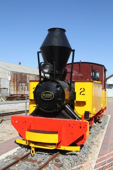 Perry narrow gauge sugar mill steam locomotive No.2 'Skipper' freshly repainted