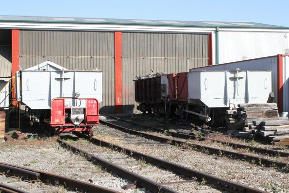 SAR open wagons outside the museum workshop