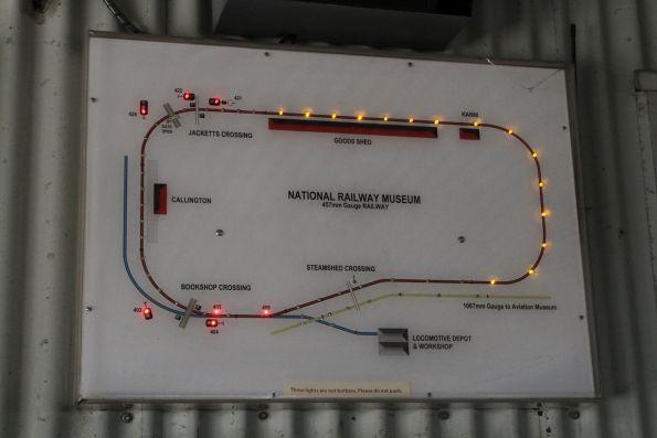 Illuminated track occupancy diagram for the 457mm gauge miniature railway