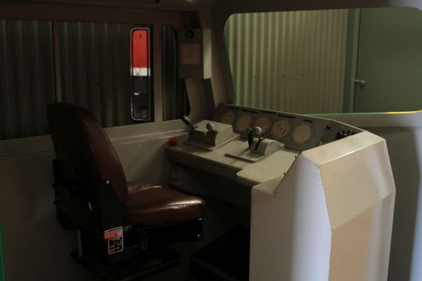 Timber mockup of a DL class diesel locomotive cab