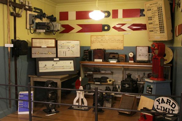 Collection of signalling and safeworking equipment on display