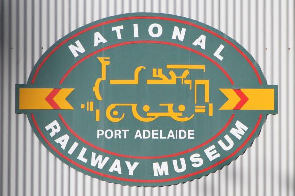 National Railway Museum logo on the side of the shed