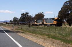 Finally overtaking the triple NR combo of NR79, NR31 and NR27 as we near Junee