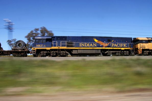 Pacing Indian Pacific liveried NR27