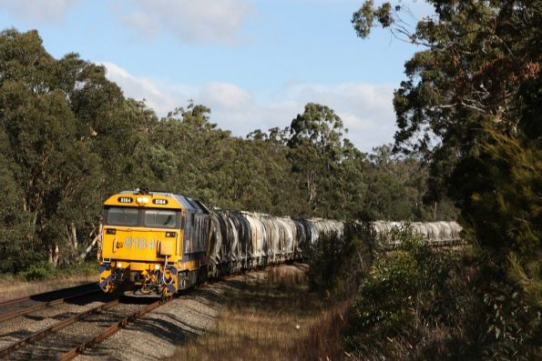 I thought an Endeavour was approaching from the other direction - 8184 leads an up cement train at Yerrinbool