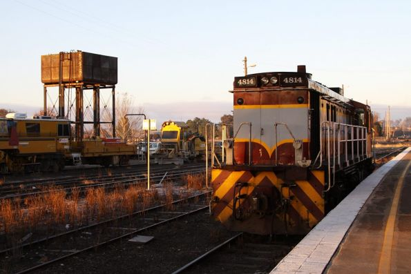 4814 stabled in number 3 road at Goulburn