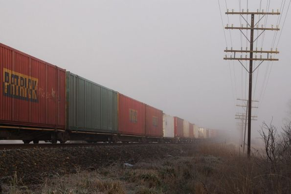 Container wagons roll by