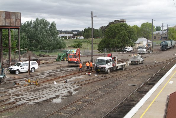 ARTC staff replace pointwork in the yard at Goulburn station