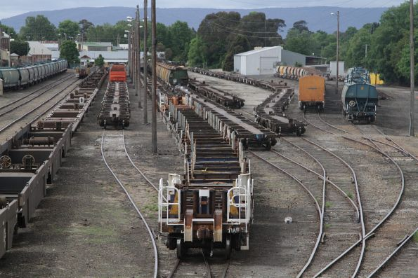 Stabled wagons in the yard at Goulburn station