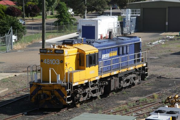 Pacific National 48103 stabled in the yard at Cootamundra