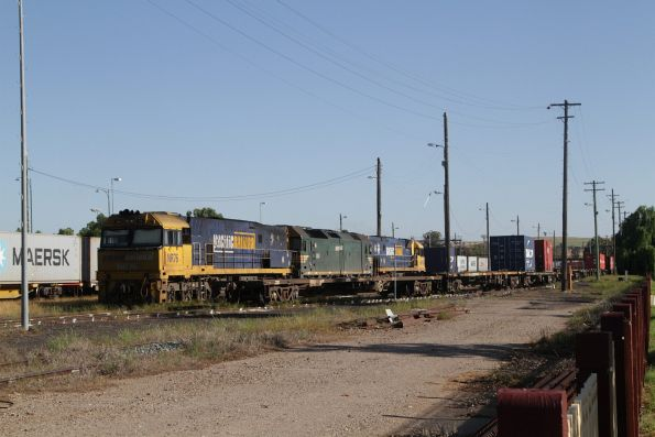 NR76, G class and NR class stabled in the yard at Junee