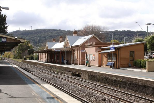 Bowral station looking up the line