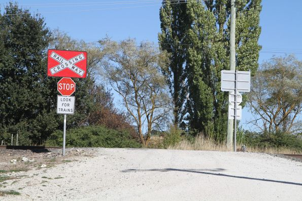 Unprotected level crossing west of Blayney