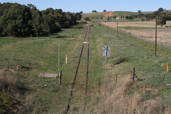 Looking down the former Blayney–Demondrille railway line at Blayney