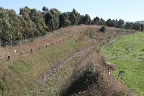 Looking up the former Blayney–Demondrille railway line at Blayney