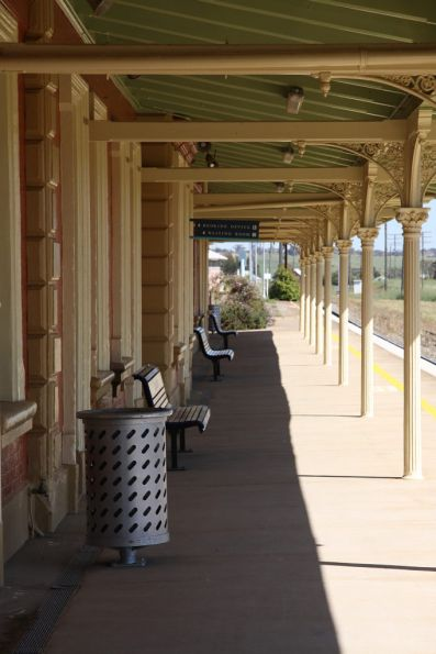 Under the platform veranda at Harden