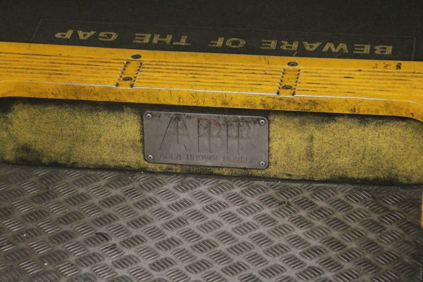 ABB builders plate affixed to an Xplorer train