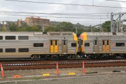 Two V sets form an 8-car train: DJM8126 coupled to DIM8045
