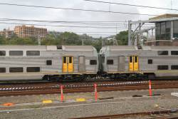 Former driving trailers in the middle of a 4-car V set: DTD9035 and DTD9033