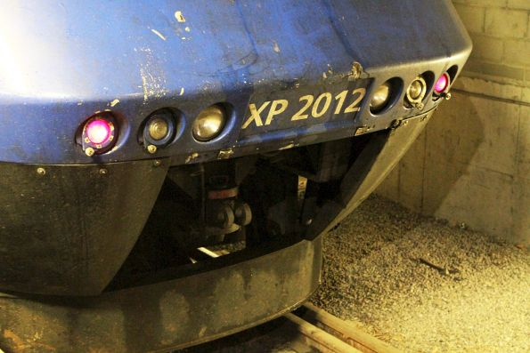 Open front coupler cover on XPT power car XP2012